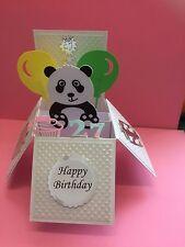 Cute little panda pop up card/birthday