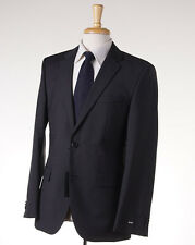 NWT $895 HUGO BOSS Charcoal Gray Pinstripe Wool Suit 38 R 'Grand/Central'