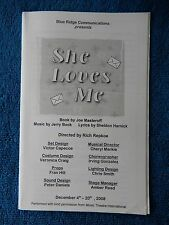 She Loves Me - EPAC Theatre Playbill - December 2008 - Tricia Corcoran - Bear