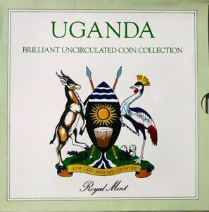 UGANDA (4) Coin Uncirculated Mint Set 1987 - 1, 2, 5 & 10 Shilling - Royal Mint