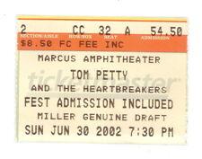 TOM PETTY AUTHENTIC ORIGINAL TICKET STUB MILWAUKEE 6/30/2002 (508)