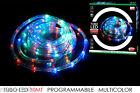 Tubo led multicolor 10 mt natale catena luci programmabili interno esterno Rotex