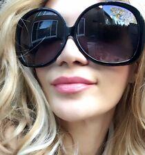 HUGE Chic Round Rectangular XXL Black Lens Fashion BIG Sunglasses Glasses 1033 L