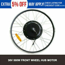 Electric Bicycle 36V 500W High Speed Brushless Gear Hub Motor Ebike Front Wheel
