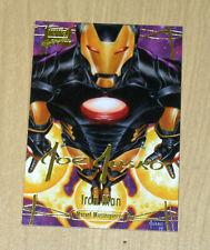 2016 Marvel Masterpieces Jusko GOLD Signature parallel high # IRON MAN #87 /50