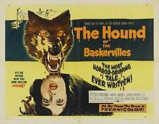 THE HOUND OF THE BASKERVILLES Movie POSTER 22x28 Half Sheet Basil Rathbone Nigel