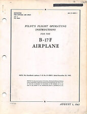 B-17F Pilot's Flight Operating Inst's 1943 Pilot's Handbook Flight Manual (CD)