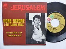 HERB ALPERT & THE TIJUANA BRASS Jerusalem A&M 1225 S Pressage France RRR