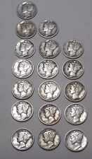 1930, 1934, 1935, 1936, 1937, 1938, 1939 P, D, & S MERCURY Dimes * F/VF+