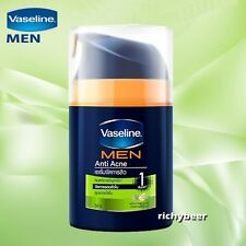 50 ML.Vaseline Men Face Anti Acne Total Fairness Serum Cream Moisturizer Bright