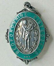 1923 Silver Bedfordshire Eisteddfod Music Festival Fob medal 36 x 26 mm green