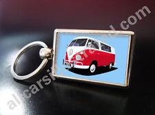 VW CAMPER VAN METAL KEY RING. CHOOSE YOUR COLOUR.