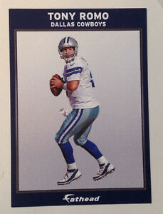 "Tony Romo FATHEAD Ad Panel 6"" x 4"" Cowboys Official NFL Wall Graphics Sign"