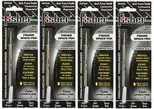 Four Fisher SPR Series Black Ink / Bold Point Refills #SPR4B