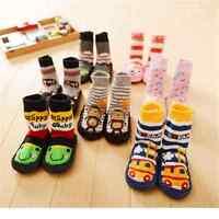 1Pair Baby Kids Toddler Girl Boy Anti-slip Shoes Boots Slipper Socks 0-24 Months