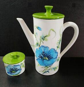Vintage 1994 Clay Art Teapot,San Francisco Cherub /& Roses Ceramic Teapot,Rare Teapot,Angel Teapot,Blue Teapot,Collector Teapot,Teapot Gift