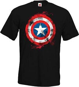 Herren T-Shirt Modell America Captain Vintage Ironman Hulk Thor Hero Avengers