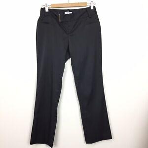 As New! Calvin Klein Sz 6 | US 2 Black Corporate Pants Trousers Office Work