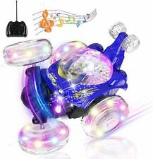 Kids LED Remote Control Stunt Car RC Toy 360 Degree Rotating USB Rechargeable