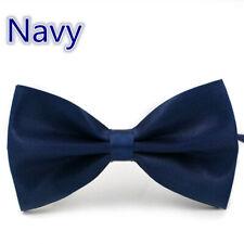 Adjustable Satin Men Tuxedo Classic Novelty Wedding Bow Tie Necktie  Navy