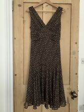 Ted Baker Brown Silk Dress Size 3 10/12UK