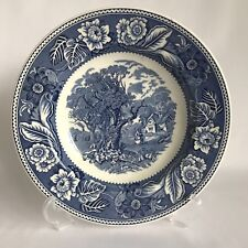 "Wood & Sons 9""  ""Woodland"" Blue & White Bowl, Enoch/Ralph/Moses, Burslem England"