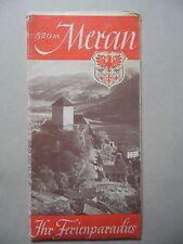 Âge Couleur plan de la ville de Merano/Italie/INSTRUCTIONS pour le Vacances Paradis