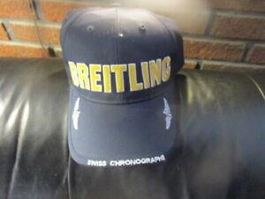 NWOT Blue W/Yellow Logo BREITLING SWISS CHRONOGRAPH Watches Logo Snapback Hat