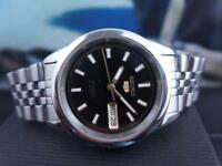 Classic Black Dial 37mm SS Seiko 5 Sports 7S26 00X0 Day/ Date Automatic