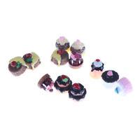 5pcs Dessert 3D Resin VanillaChocolates Cakes Miniature food Dollhouse Decor Jf