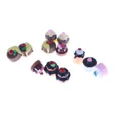 5pcs Dessert 3D Resin Vanilla Chocolates Cakes Miniature food Dollhouse SW