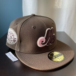 New Era Montreal Expos size 7 1/8 Mocha Brown Pink Travis Not Hat Club Myfitteds