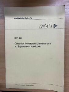 1978 CIVIL AVIATION AUTHORITY (CAP 418) CONDITION MONITORED MAINTENANCE BOOK