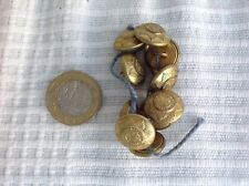 Coldstream Guards forage cap sized brass buttons X 10.