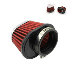 2.15in Universal Red Car Round Tapered Air Intake Filter Mesh Cone Induction Kit