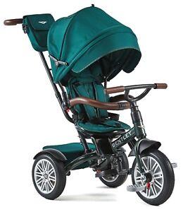 Bentley Trike 6-in-1 Reversible Seat Convertible Tricycle Stroller Spruce Green