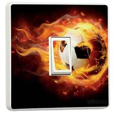 Fire Football Single Light Switch Vinyl Skin Sticker 1-way 1-gang cover decal