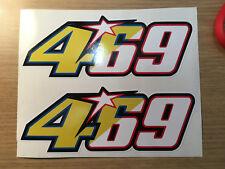 X2 Valentino Rossi / Nicky Hayden 469 46 69 Stickers Decals for Helmet / fairing