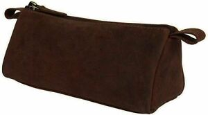 Trendy Leather Pencil Roll Case Organizer Brushes Ruler Artist Painter 3 inches