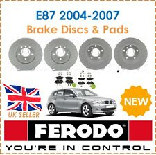 For BMW E87 2004-2007 FERODO Front & Rear Brake Discs + Brake Pads Sets New