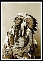 ⫸ 903 Postcard Hollow Horn Bear, Brule Sioux Chief,1900 Photo John Anderson  NEW