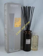 ESTEBAN Vaso diffusore profumo casa AMBRE ambra 75ml a bacchette con vaso vetro