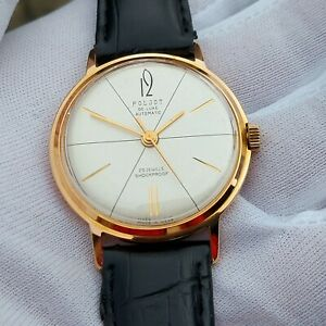 Poljot De Luxe Automatic (1-MChZ) Export Vintage USSR Russian Gold Men's Watch