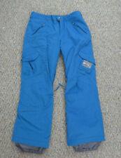 Burton Dry Ride Cargo Snowboard Snow Ski Pants Blue Adjustable Womens Size L
