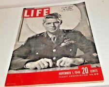 November 1, 1948 LIFE Magazine 40s advertising add  Ad ads FREE SHIPPING Nov 11