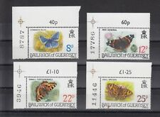 TIMBRE STAMP 4 GUERNESEY Y&T#213-16 PAPILLON BUTTERFLY NEUF**/MNH-MINT 1981 ~B68