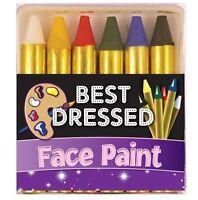 Face & Body Painting Crayon Kit  6 colours Sticks Party Wedding Kids FacePaint