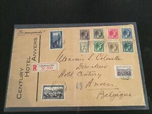 Luxemburg Briefmarken Brief 1933 Einschreiben tolle Frankatur