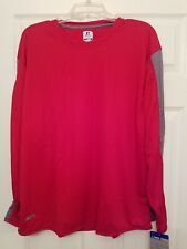 MEN'S RUSSELL DRI POWER RED LONG SLEEVE SHIRT SIZE LARGE NEW WITH TAGS