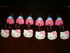 Hello Kitty Shower Curtain Hooks  Set of 12  Used Kitty and Purse Design